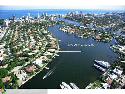 Sunrise Intracoastal Single Family Home For Sale: 765 Middle River Dr