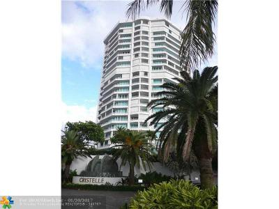 Broward County Condo/Townhouse For Sale: 1700 S Ocean Blvd #8B