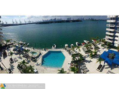 Miami Beach Condo/Townhouse For Sale: 800 West Ave #825