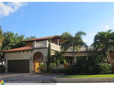 Lauderdale By The Sea Single Family Home For Sale: 2100 Bel Air Dr