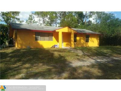 West Palm Beach Single Family Home For Sale: 12105 N 61st Ln