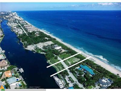 Hillsboro Beach Residential Lots & Land For Sale: 1103 Hillsboro Mile