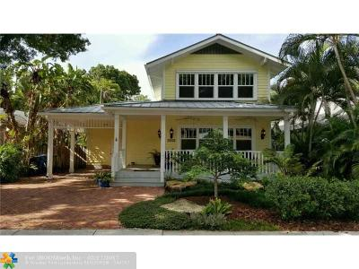 Fort Lauderdale Single Family Home For Sale: 1225 SE 2nd St