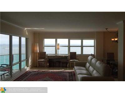 Condo/Townhouse For Sale: 3400 Galt Ocean Drive #901