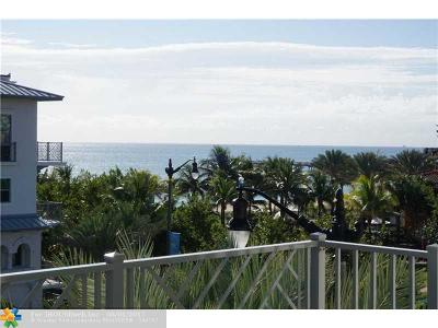 Lauderdale By The Sea Condo/Townhouse For Sale: 4511 El Mar Dr #PH1407