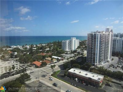 Fort Lauderdale Condo/Townhouse For Sale: 3015 N Ocean Blvd #18J