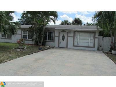 North Lauderdale Single Family Home For Sale: 6810 SW 16 Court