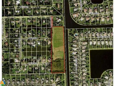 Davie Residential Lots & Land For Sale: 10500 SW 27th Ct