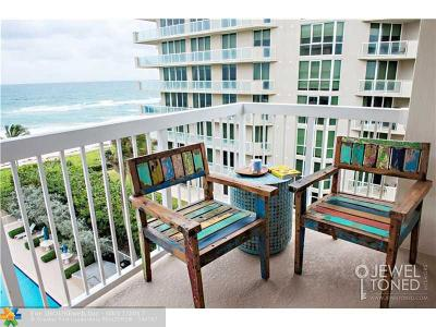 Hillsboro Beach Condo/Townhouse For Sale: 1069 Hillsboro Mile #608
