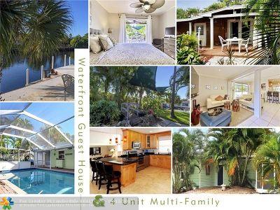 Oakland Park Multi Family Home For Sale: 1310 NE 30th St