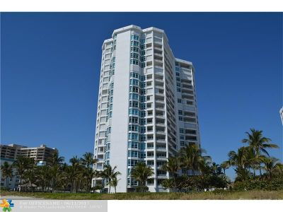 Broward County Condo/Townhouse For Sale: 1700 S Ocean Blvd #5A