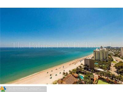 Fort Lauderdale Condo/Townhouse For Sale: 2110 N Ocean Blvd #19A&19D