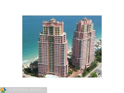 Fort Lauderdale Condo/Townhouse For Sale: 2110 N Ocean Blvd #14A