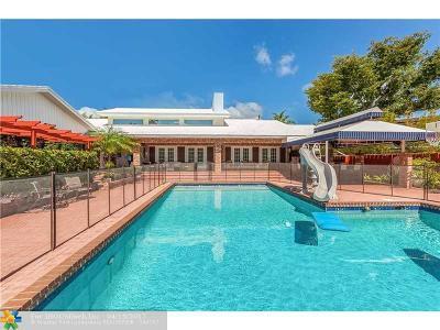 Sunrise Intracoastal Single Family Home For Sale: 719 Intracoastal Dr