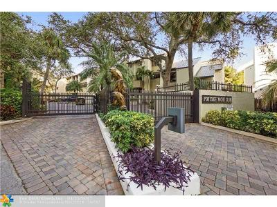 Fort Lauderdale Condo/Townhouse For Sale: 38 Portside Dr #38