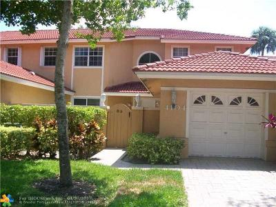 Pompano Beach Condo/Townhouse For Sale: 4104 Carriage Dr #3D