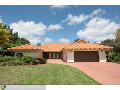Davie Single Family Home For Sale: 1521 SW 120th Ter