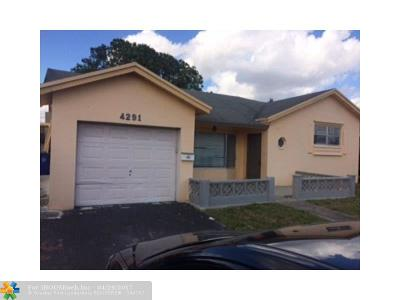 Lauderdale Lakes Single Family Home Backup Contract-Call LA: 4291 NW 45th St