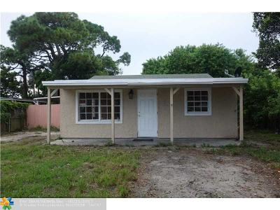 Lake Worth Single Family Home For Sale: 921 NE State St