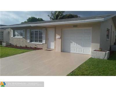 Tamarac Single Family Home For Sale: 4916 N 55th Ct.