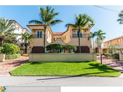 Pompano Beach Single Family Home For Sale: 1902 Bay Dr