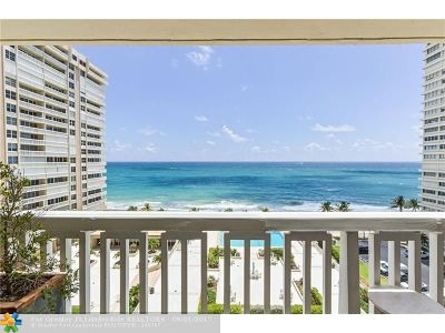 Fort Lauderdale Condo/Townhouse Backup Contract-Call LA: 4300 N Ocean Blvd #9B