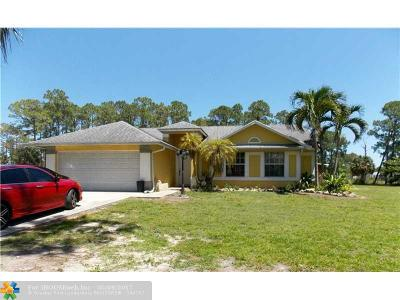 Loxahatchee Single Family Home For Sale: 15733 88th Pl N