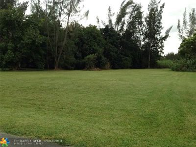 Southwest Ranches Residential Lots & Land For Sale: 18100 SW 52nd Ct