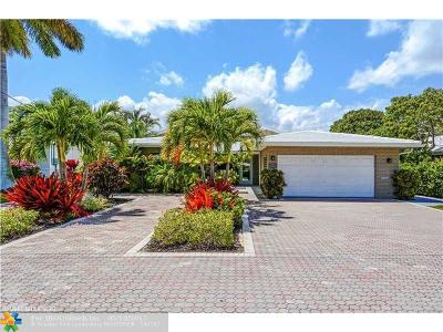 Lauderdale By The Sea Single Family Home For Sale: 4449 W Tradewinds Av
