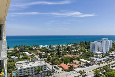 Condo/Townhouse Sold: 3015 N Ocean Blvd #PH-10