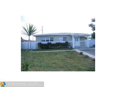 Pompano Beach Single Family Home For Sale: 3120 NE 5th Ave