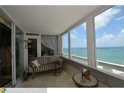 Lauderdale By The Sea Condo/Townhouse For Sale: 3900 N Ocean Dr #14F