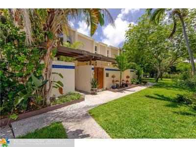 Wilton Manors Condo/Townhouse For Sale: 846 NE 20th Dr #846