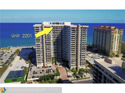 Hallandale Condo/Townhouse For Sale: 2030 S Ocean Dr #2201