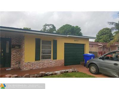 North Lauderdale Single Family Home For Sale: 6470 SW 9th Pl