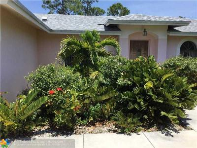 West Palm Beach Single Family Home For Sale: 13125 76th Rd