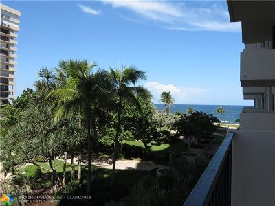 Lauderdale By The Sea Condo/Townhouse For Sale: 5000 N Ocean Blvd #306