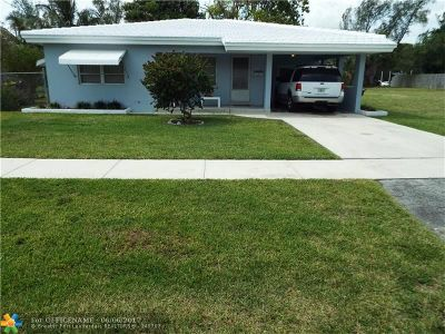 Dania Single Family Home For Sale: 803 NW 7th St