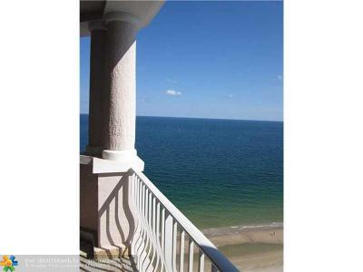 Broward County Condo/Townhouse For Sale: 1460 S Ocean Blvd #1504