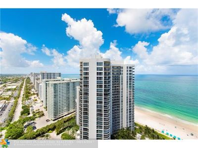Fort Lauderdale Condo/Townhouse For Sale: 3100 N Ocean Blvd #PH2709