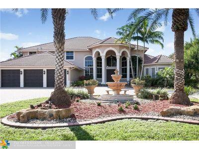 Davie Single Family Home For Sale: 11080 SW 23rd St