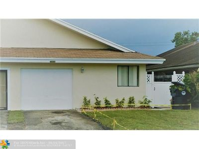 North Lauderdale Single Family Home For Sale: 6537 Harbour Rd