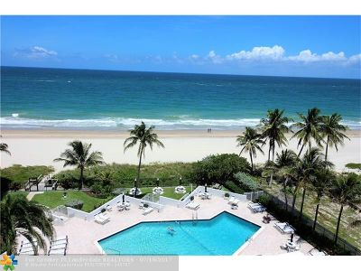 Pompano Beach Condo/Townhouse For Sale: 1340 S Ocean Blvd #708