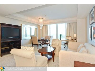 Fort Lauderdale Condo/Townhouse For Sale: 1 N Fort Lauderdale Beach Blvd #1510