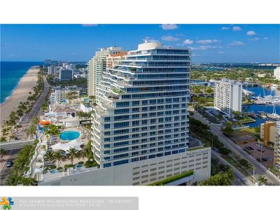 Fort Lauderdale Condo/Townhouse For Sale: 1 N Fort Lauderdale Beach Blvd #1712