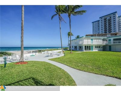 Pompano Beach Condo/Townhouse For Sale: 1470 S Ocean Blvd #101