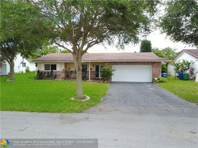 Coral Springs Single Family Home For Sale: 7518 NW 43rd Ct