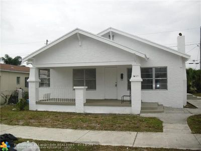 West Palm Beach Single Family Home For Sale: 1022 State St
