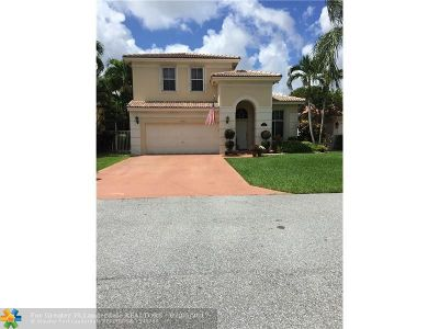 Coconut Creek Single Family Home For Sale: 3662 Coco Lake Dr