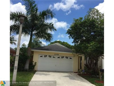 Coconut Creek Single Family Home For Sale: 2378 NW 34th Way